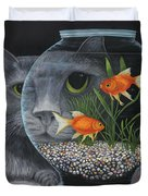 Eye To Eye Duvet Cover by Karen Zuk Rosenblatt