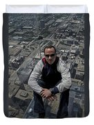 Eyes Down From The 103rd Floor Just Sitting Around Duvet Cover