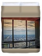 Eyes Down From The 103rd Floor Looking South Duvet Cover