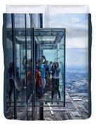 Eyes Down From The 103rd Floor Neighbors Duvet Cover