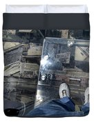 Eyes Down From The 103rd Floor One Big Step Duvet Cover
