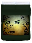 Eyes Of Mother Nature Duvet Cover