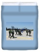 F-15 Pilots Of The 48th Fighter Wing Duvet Cover