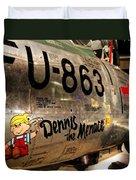 F-86d Sabre Dennis The Menace Duvet Cover