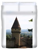 Fabry Tower - Cluny - Burgundy Duvet Cover