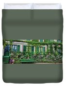 Facade Of Claude Monets House, Giverny Duvet Cover