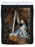 Facade Of Sagrada Familia Duvet Cover