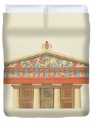 Facade Of The Temple Of Jupiter Duvet Cover