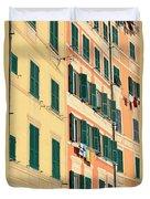 facades in Camogli Duvet Cover