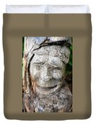 Face In A Tree Duvet Cover