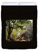 Face In The Forest 01 Duvet Cover