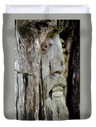 Face In The Forest Duvet Cover