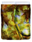 Face In The Rock Dreams Of Tulips Duvet Cover
