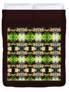 Face In The Stained Glass Tiled Duvet Cover