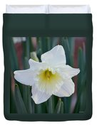 Face Of A Daffodil Duvet Cover