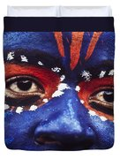 Face Of Carnival Duvet Cover by Ian Cumming