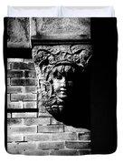 Face Of Stone Duvet Cover