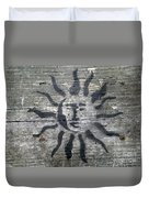 Face Of The Sun Duvet Cover