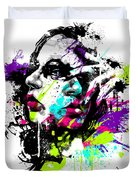Face Paint 1 Duvet Cover