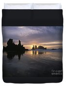 Face Rock Beach Bandon Oregon Duvet Cover