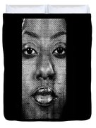 Face To Face - Crown Fountain Chicago Duvet Cover