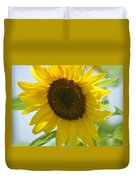 Face To Face With A Sunflower Duvet Cover