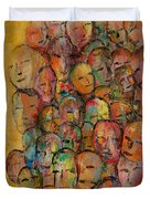 Faces In The Crowd Duvet Cover