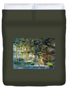 Faces In The Pond Duvet Cover