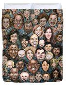 Faces Of Humanity Duvet Cover