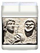 Faces Of Pompeii Duvet Cover