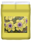 Faces Of Spring    Duvet Cover