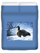 Facing The Cold Dawn Duvet Cover
