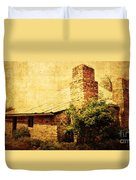 Faded Building Duvet Cover