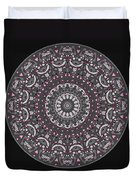 Faded Cedar No. 1 Mandala Duvet Cover