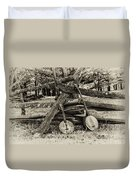 Faded Country Time Banjos Duvet Cover
