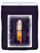 Faded Purple Stained Glass Window Photo Art Duvet Cover