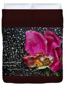 Faded Rose - Youth And Age Duvet Cover