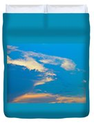 Fading Clouds Duvet Cover