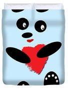 Fading Like A Flower. Panda In Love. 02 Duvet Cover