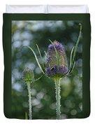 Fading Teasel Flower Duvet Cover