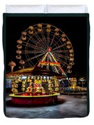 Fairground At Night Duvet Cover