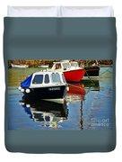 Fairmaid At Mousehole Harbour Duvet Cover