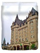 Fairmount Chateau Laurier East Of Parliament Hill In Ottawa-on Duvet Cover