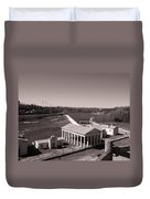 Fairmount Waterworks And Dam In Sepia Duvet Cover