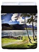 Fairway In Paradise Duvet Cover