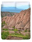 Fairy Chimneys In The Making In Cappadocia-turkey Duvet Cover