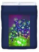 Fairy Light Garden Green By Jrr Duvet Cover