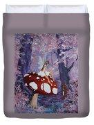 Fairy On A Mushroom Duvet Cover
