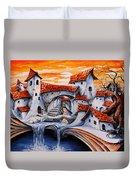 Fairy Tale City - Magic Stream Duvet Cover