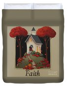 Faith Country Church Duvet Cover